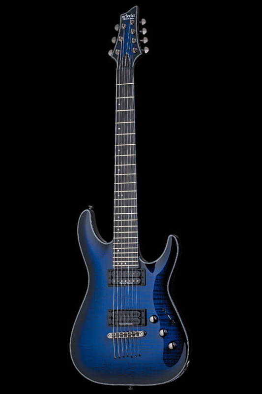 <title>エレキギター 国内在庫 《シェクター》 Schecter Diamond Series BLACK JACK SLS C-7 PASSIVE See Thru Blue Burst with Satin Neck AD-C-7-BJ-SLS P STBB 《エレキギター》 送料無料 ご予約受付中</title>