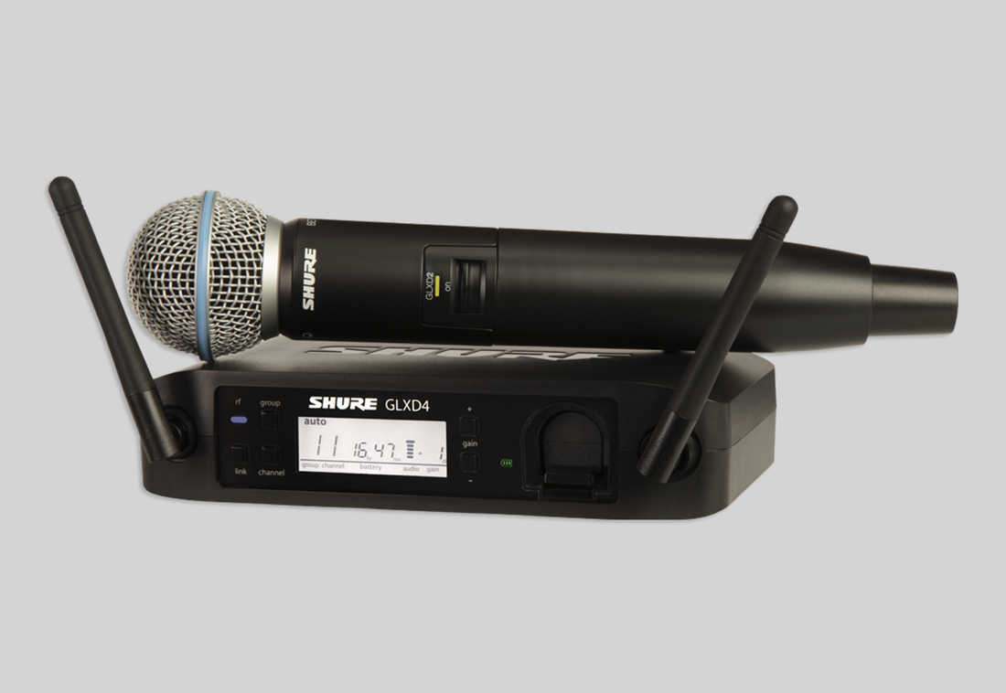 SHURE GLX-D Baggable Systems GLXD24/BETA 58A ハンドヘルド型ワイヤレスシステム [GLXD24/B58] 【送料無料】