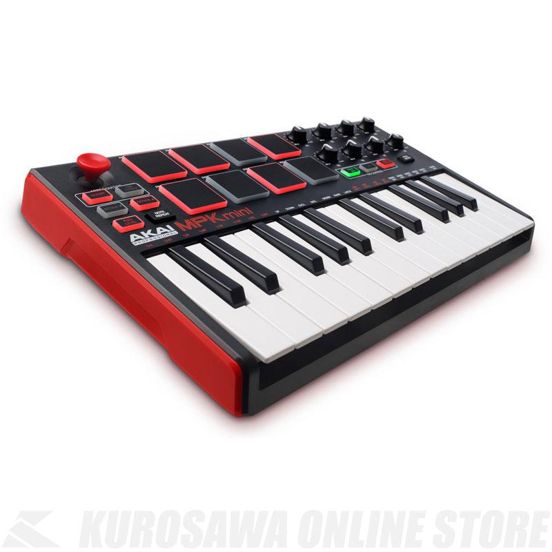 AKAI MPK mini MK2 Compact Keyboard and Pad Controller 《USBキーボードコントローラ》【送料無料】【次回入荷分・ご予約受付中】