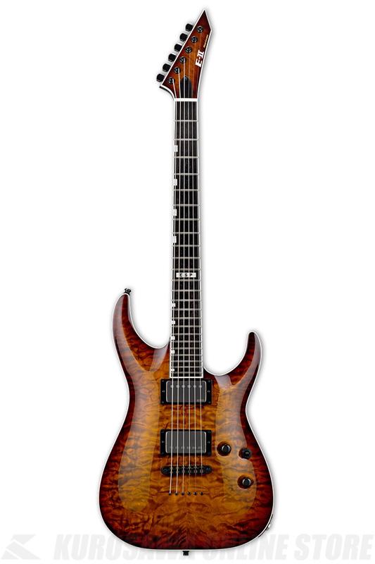 E-II HORIZON NT-II TESB EMG(Tiger Eye Sunburst)《エレキギター》【送料無料】【受注生産品】
