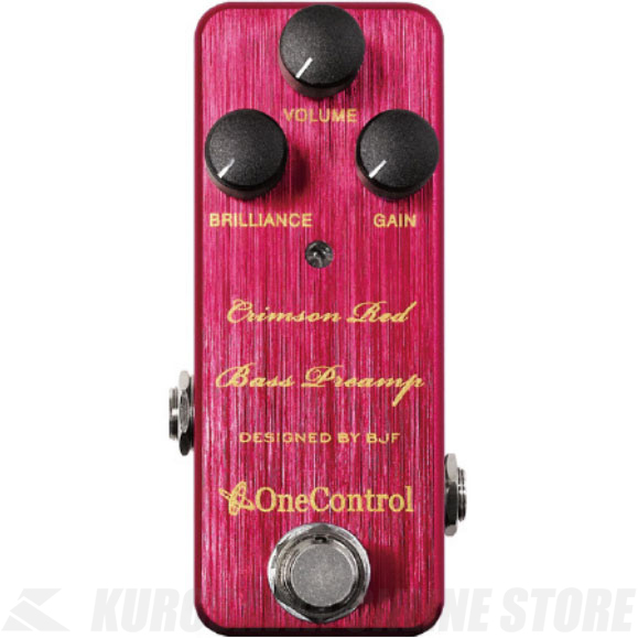One Control Crimson Red Bass Preamp 《アップライトサウンドベースプリアンプ》【送料無料】