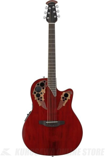 Ovation Celebrity Elite Super Shallow Body CE48-RR(Ruby Red)《アコースティックギター/エレアコ》【送料無料】(ご予約受付中)