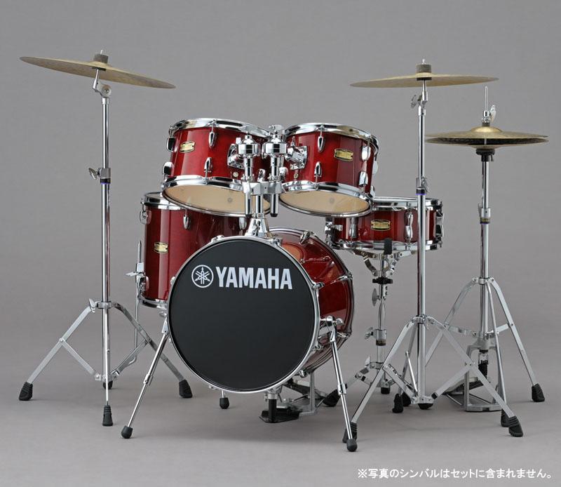 YAMAHA コンパクトドラムキット ジュニアキット+ 専用ハードウェアセット Manu Katche Model Junior Kit [JK6F5CR/HWJK](クランベリーレッド)【送料無料】