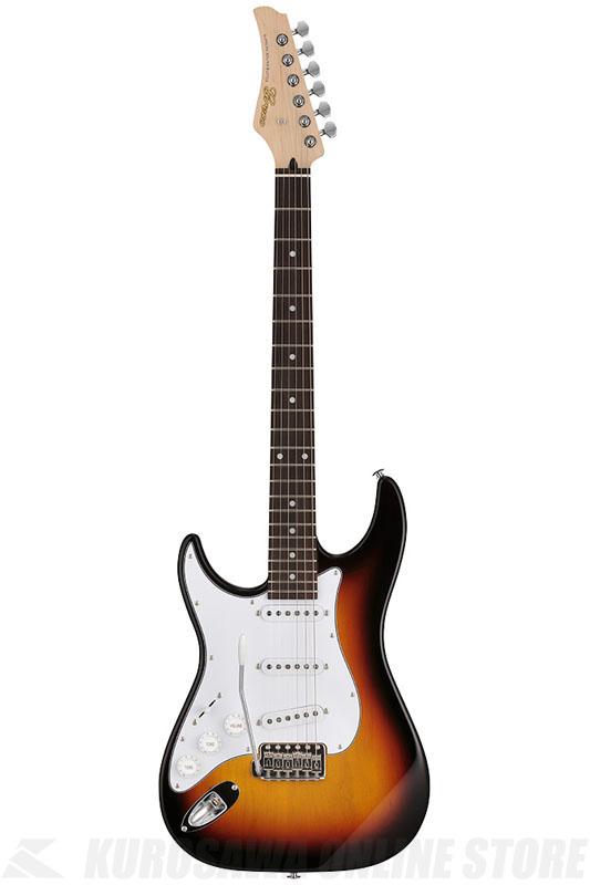 Greco Wild Scamper Series WS-STD/LH SB (Sunburst / Rosewood)  《Left-Hand / 左利き用》【国産ギター】【送料無料】