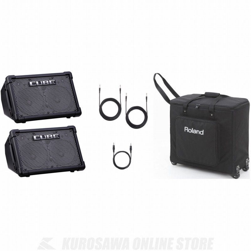 ROLAND CUBE Street EX PA Pack Battery Powered Stereo Amplifier 《PAセット》 【ご予約受付中】 【送料無料】