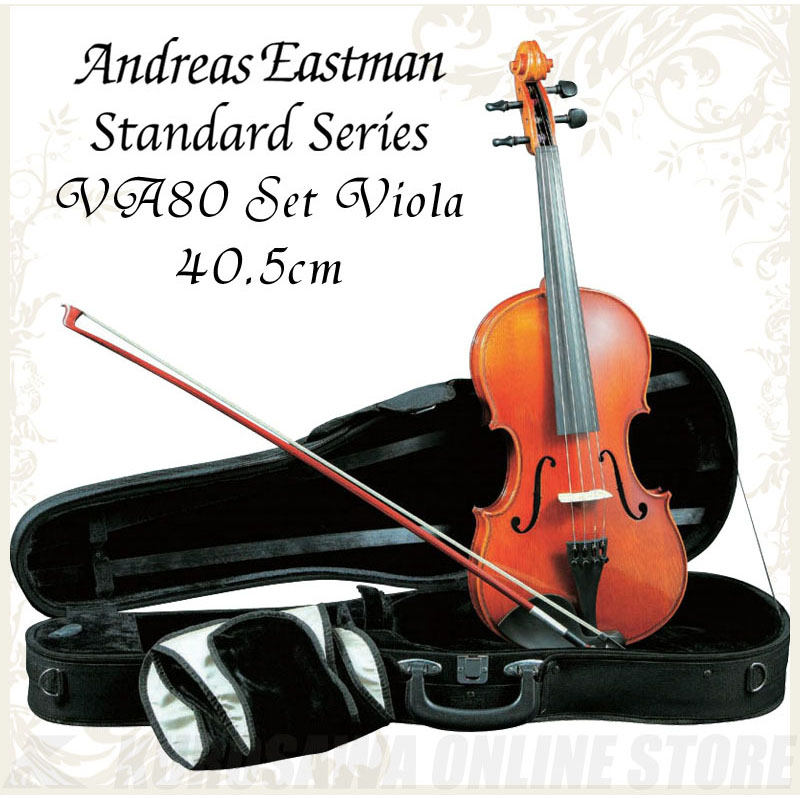 Andreas セットビオラ Eastman Standard series series VA80 セットビオラ (サイズ:40.5cm) VA80 《ビオラ入門セット》【送料無料】, 豪華で新しい:4fd63645 --- officewill.xsrv.jp