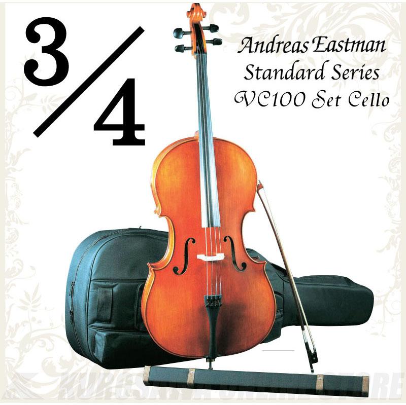 Andreas Eastman Standard series VC100 セットチェロ (3/4サイズ/身長135cm~155cm目安) 《チェロ入門セット》 【送料無料】