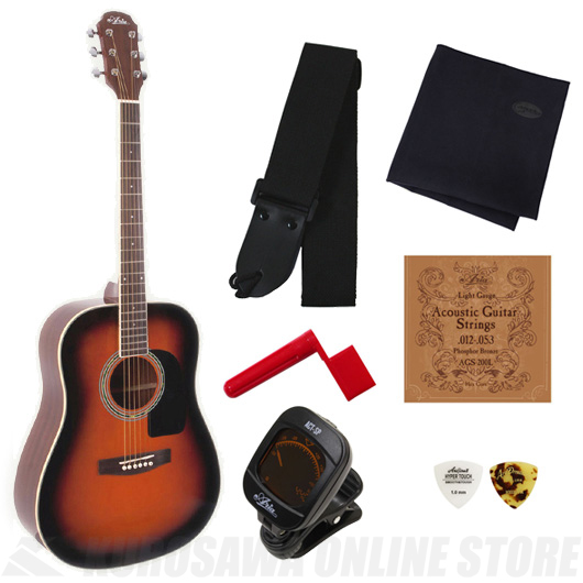 Aria AD-18 BS (Brown Sunburst)《アコースティックギター》【送料無料】【入門セット付き】