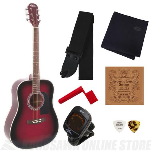 Aria AD-18 RS (Red Shade)《アコースティックギター》【送料無料】【入門セット付き】