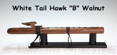 High Spirits Flutes ホワイトテール・ホーク 112-W key/B ウォルナット材 450mm 《インディアンフルート》【送料無料】
