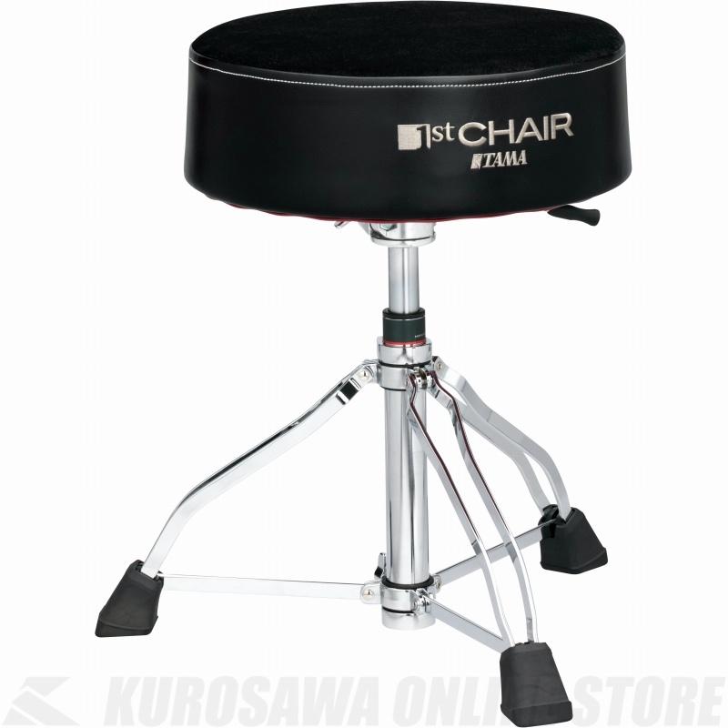 """TAMA 1 ST Chair ラウンドライダーXL 3脚ガスリフト""""クロストップ""""スローン [HT850BC]《ドラムスローン》【送料無料】"""