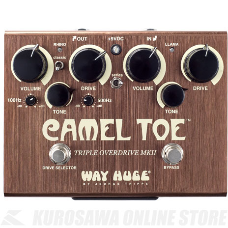 WAY HUGE WHE209 CAMEL TOE/TRIPLE OVERDRIVE MKII 《エフェクター/オーバードライブ》【送料無料】