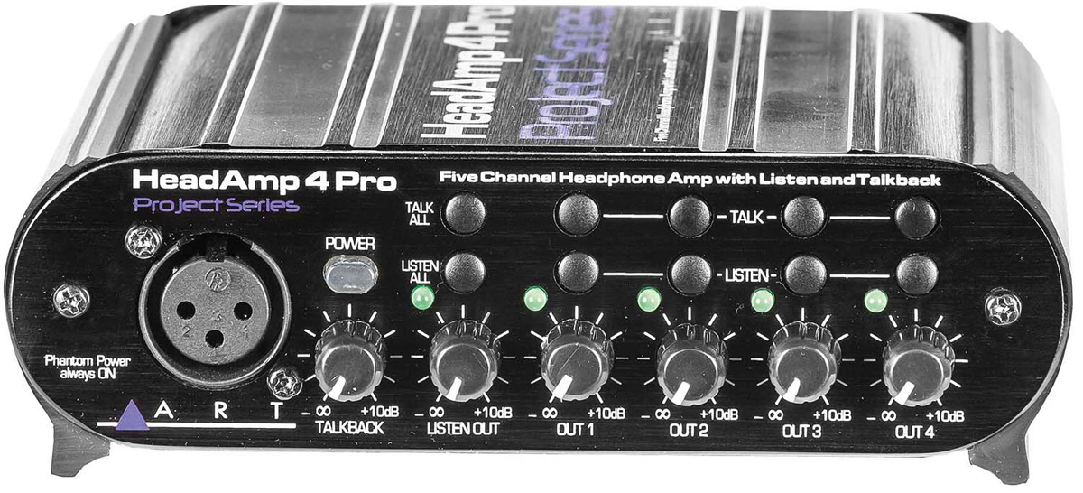 ART Head Amp4 Pro 《5CHヘッドホン・アンプ with リッスン&トークバック》 【送料無料】