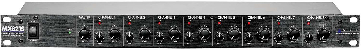 ART MX821S 8ch Mixer w/Stereo Out 《8CHマイク/ライン・ミキサー with ステレオアウト》 【送料無料】