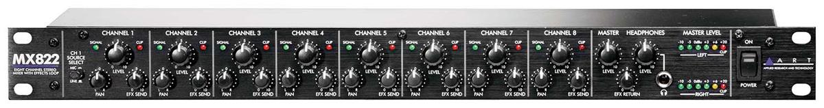 全国総量無料で ART MX822 8ch 8ch Mixer w/エフェクトループ 《8chステレオ with・ミキサー Mixer with エフェクト・ループ》【送料無料】, ノスコスポーツ:d566d2ef --- clftranspo.dominiotemporario.com