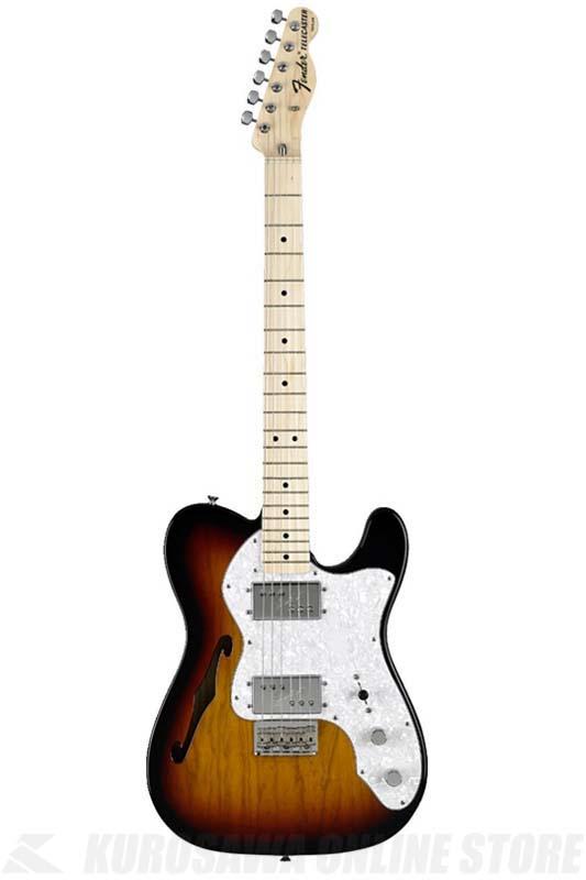 Fender Classic Series '72 Telecaster Thinline, Maple Fingerboard, 3-Color Sunburst[0137402300]《エレキギター/テレキャスター》 【送料無料】【ご予約受付中】
