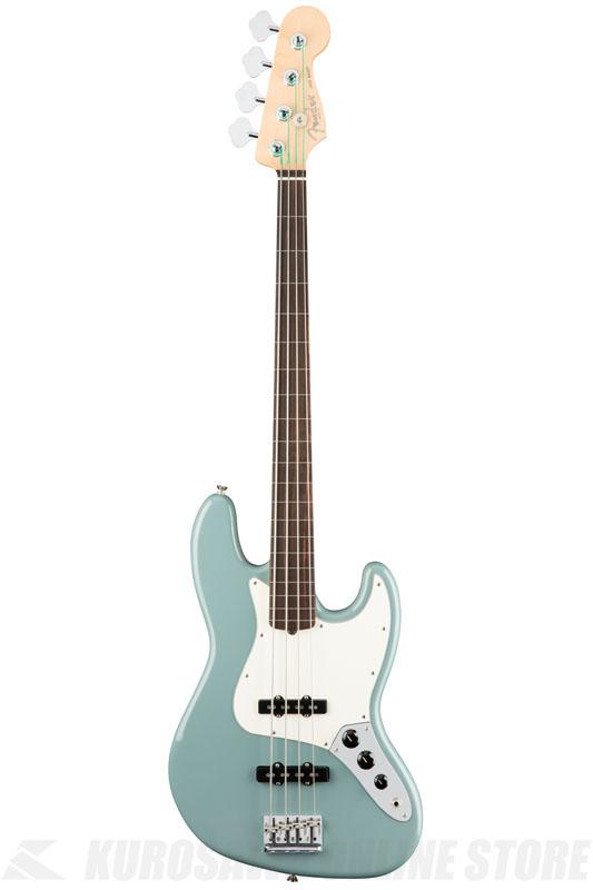 Fender American Professional Jazz Bass Fretless, Rosewood Fingerboard, Sonic Gray《ベース/ジャズベース》【送料無料】【ご予約受付中】