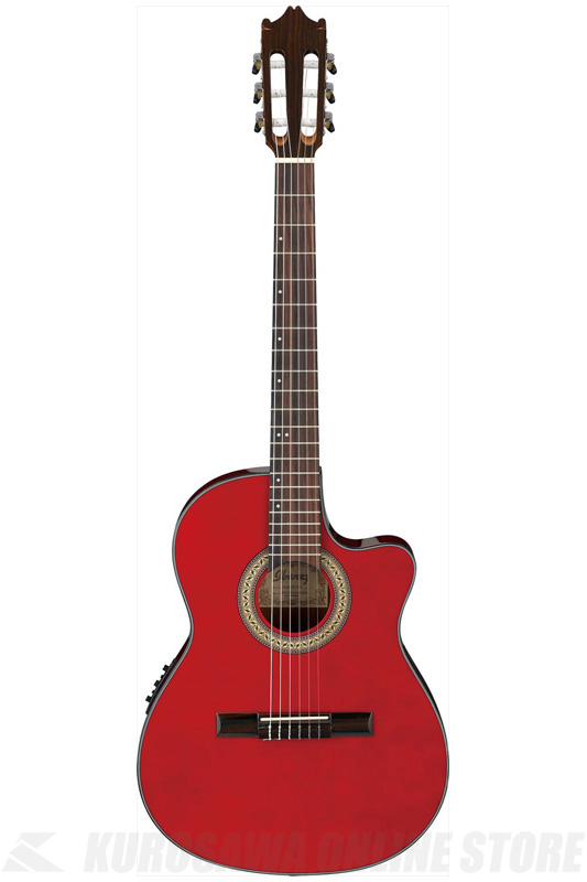 Ibanez GA30TCE-TRD (Transparent Red) (クラシックギター/エレガット)(送料無料)(ご予約受付中)