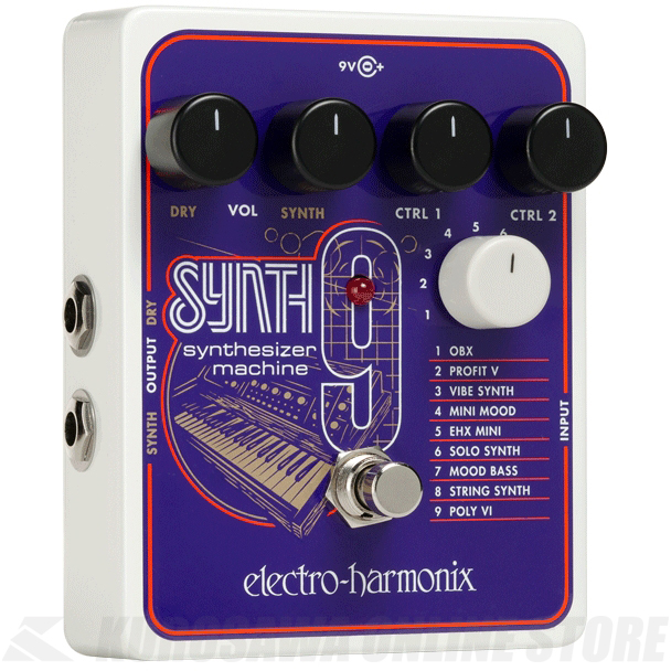 Electro-Harmonix SYNTH9 Synthesizer Machine 《エフェクター/シンセサイザーシミュレーター》【送料無料】