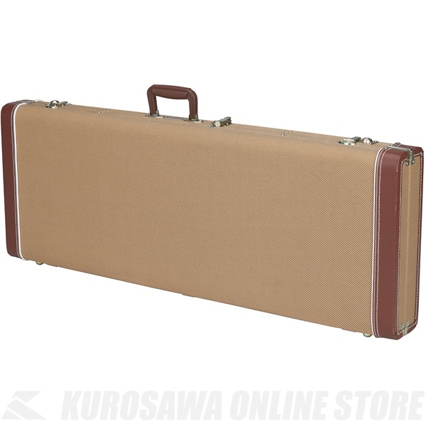 Fender Jazz Bass Multi-Fit Hardshell Cases (Tweed with Red Poodle Plush Interior)《ベース用ハードケース》【送料無料】