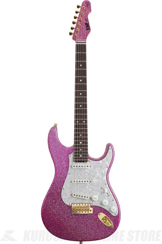 ESP SNAPPER Ohmura Custom 大村孝佳 model (Twinkle Pink/Rosewood) (エレキギター)(受注生産品)