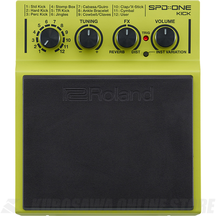 Roland SPD::ONE Series SPD-1K Kick (パーカッションパッド)(送料無料)(6月24日発売・ご予約受付中)