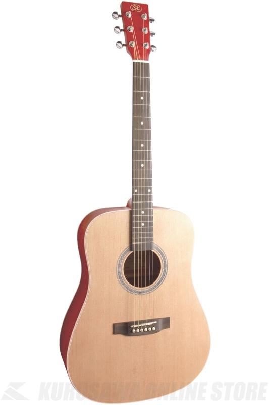 SX SD204 TRD 《ドレッドノートタイプ・アコースティックギター》 (シースルーレッド) 【送料無料】