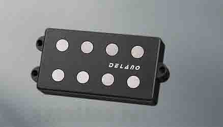 Delano Pickup MC-AL pickup series MM style 4 string pu AlNiCo 5 magnets MC 4 AL dual coil humbucker (ベース用ピックアップ)(送料無料)