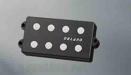 Delano Pickup MC-FE pickup series MM style 4 string pu 9,5 mm ferrite pole pieces MC 4 FE (ベース用ピックアップ)(送料無料)