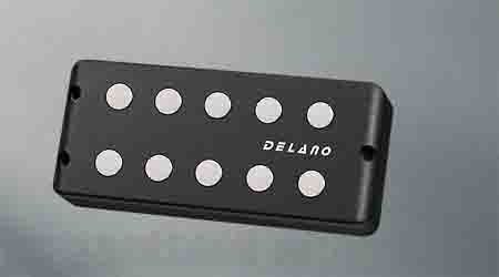 Delano Pickup MM style 5 / 9,5 mm ferrite MC 5 FE /J double twin coil in-line humcanceller (quad coil ) EB-Type