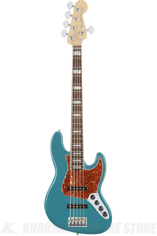 Fender American Elite Jazz Bass V, Ebony Fingerboard, Ocean Turquoise (5弦ベース/ジャズベース)(送料無料)