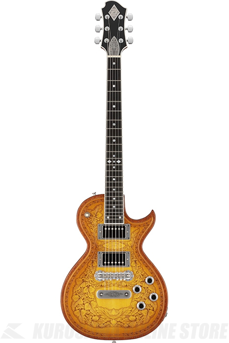 Zemaitis SUPERIOR / CUSTOM SHOP CS24SU WOOD LEAF MAPLE Amber Burst (エレキギター)(送料無料)