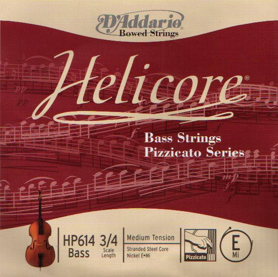 D'Addario ''Helicore Bass Strings Pizzicato Series''【SET】【新品】【日本総本店在庫品】