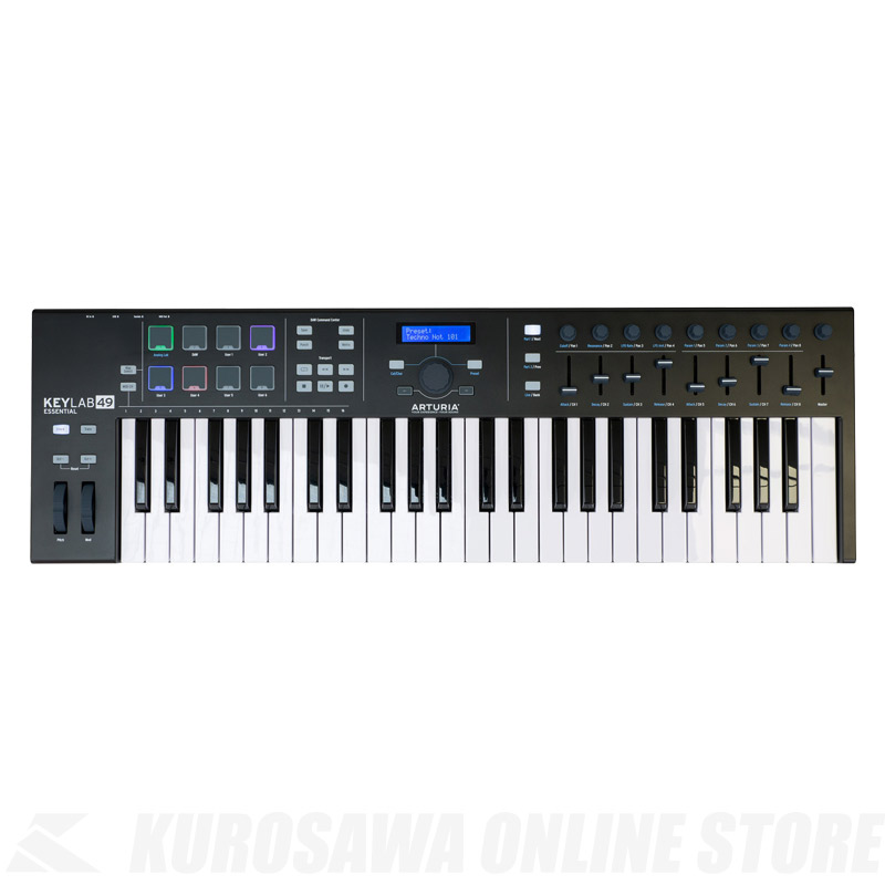 ARTURIA KeyLab Essential 49 Black Edition [ESN49 BK]【送料無料】【4月28日発売・ご予約受付中】