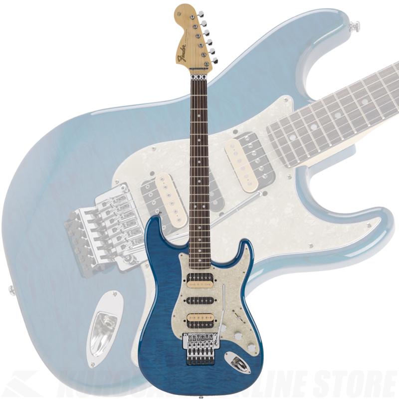 2019年以降入荷品・予約受付中 Fender Michiya Haruhata Stratocaster, Rosewood Fingerboard, Caribbean Blue Trans[春畑道哉シグネチャーモデル]