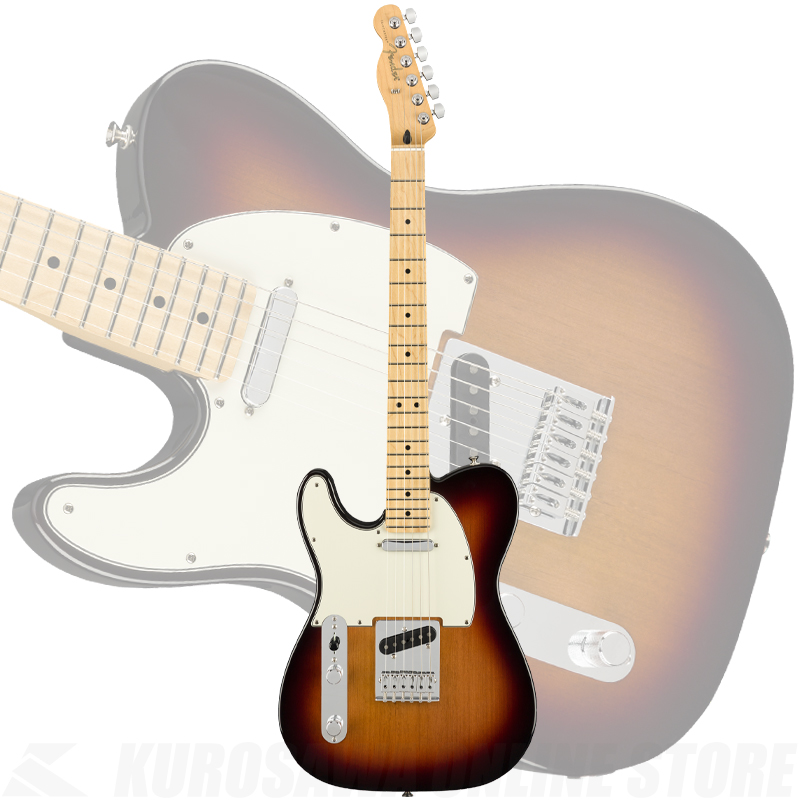 Fender Player Telecaster Left-Handed, Maple Fingerboard, 3-Color Sunburst(ご予約受付中)