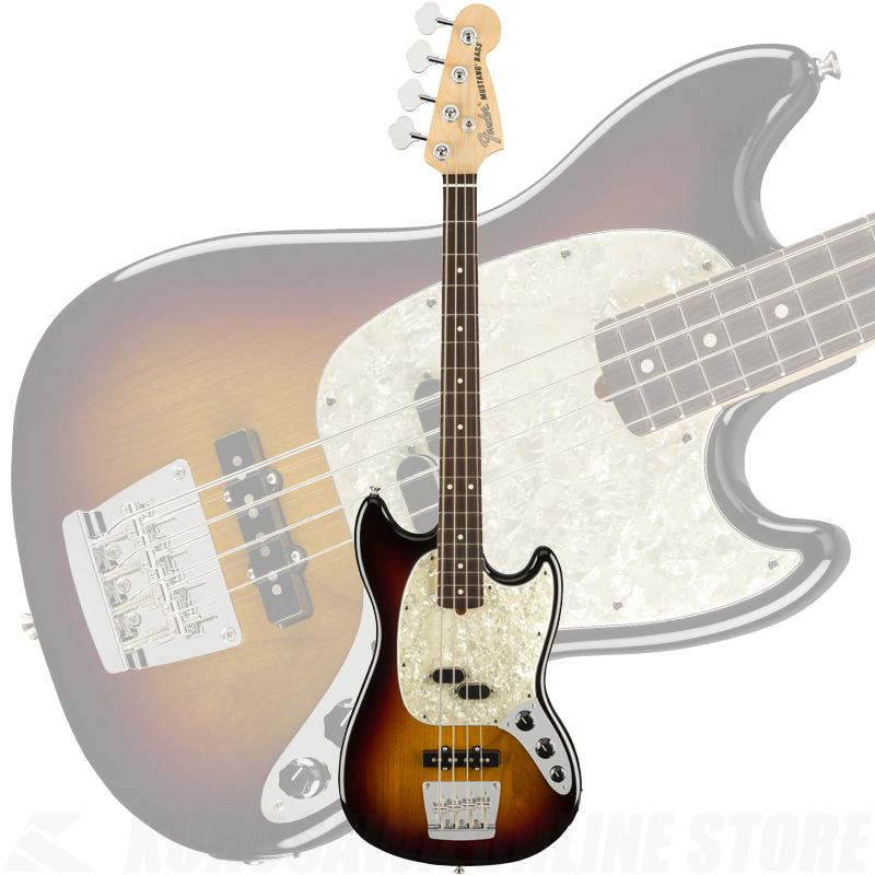 Fender American Performer Mustang Bass, Rosewood Fingerboard, 3-Color Sunburst【2月以降入荷予定・ご予約受付中】