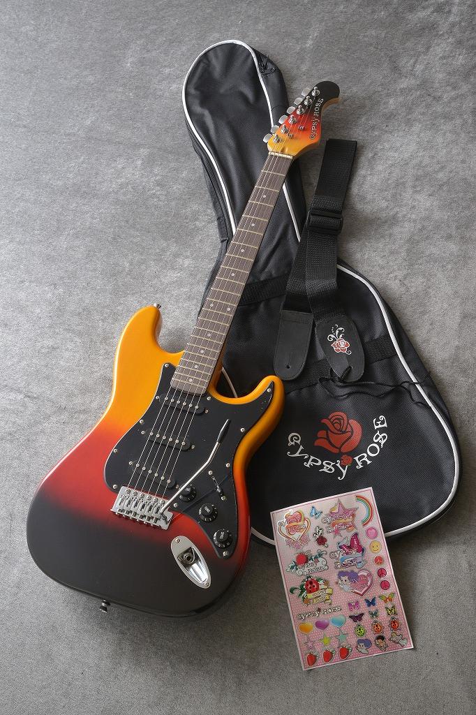 Gypsy Rose GRE1K-BBS ブラックブラウンサンバースト (エレキギターセット)(送料無料)
