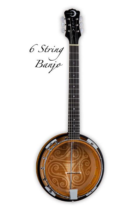 Luna Guitars Folk Series 6 String Banjo [BGB CEL 6] 《バンジョー》【送料無料】(ご予約受付中)