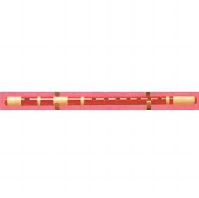 大岡楽器 高級赤紫水 籐半重巻 2本調子 〔6穴/7穴〕 《篠笛》【送料無料】