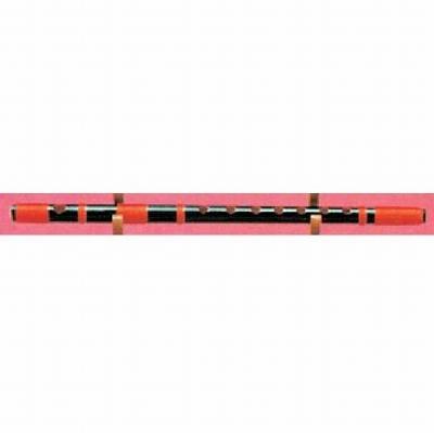 大岡楽器 高級黒紫水(赤糸) 赤糸半重巻 3本調子 〔6穴/7穴〕 《篠笛》【送料無料】