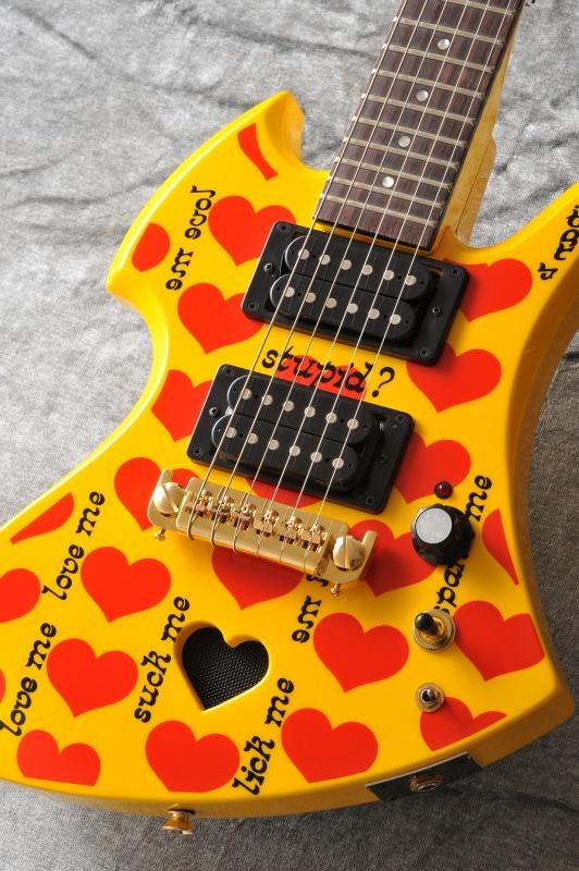 Burny YH-JR YELLOW HEART Jr. ミニギター【送料無料】【X JAPAN hide】イエローハート