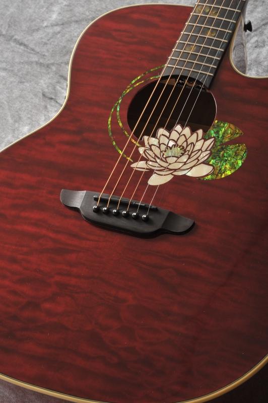 Luna Guitars Flora lotus GC quilt maple with cust fbd (Trans Shiraz) 《アコースティックギター》【送料無料】
