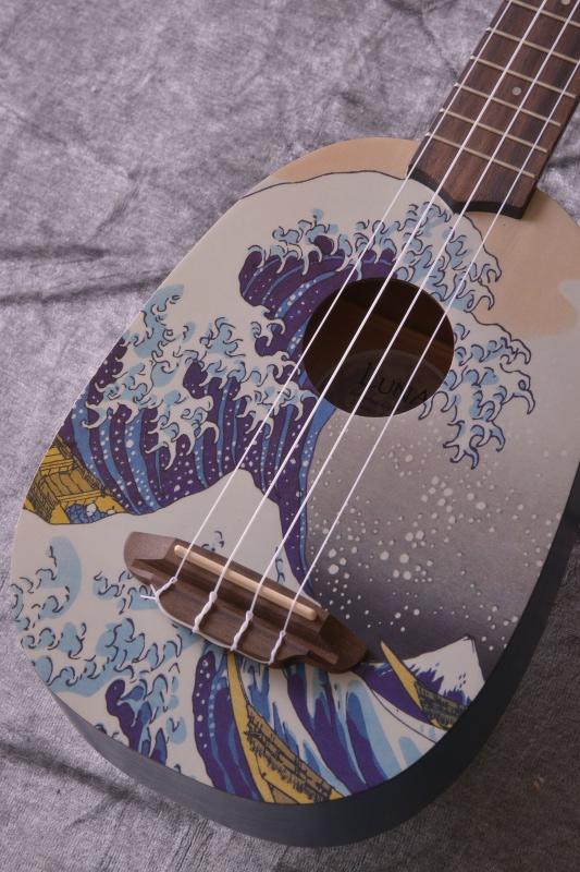 Luna Guitars Artistic Great Wave Soprano [UKE GWS] 《ソプラノウクレレ》【送料無料】【SAVAREZ Low-G弦 144RL プレゼント】