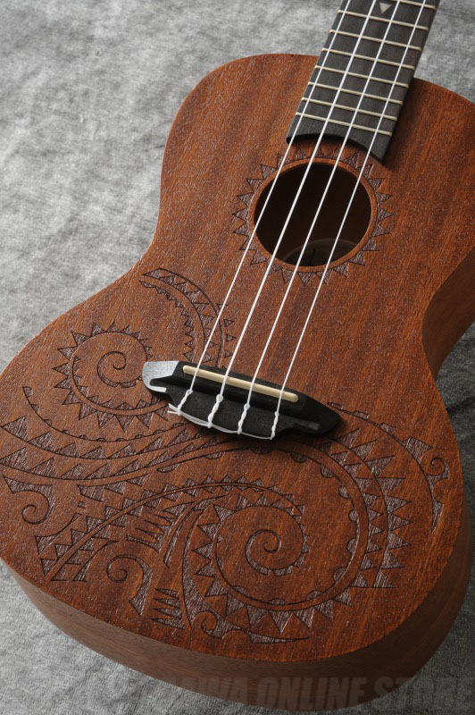Luna Guitars / ルナ コンサートウクレレ Tattoo Concert Mahogany (UKE TC MAH)(ご予約受付中)(ONLINESTORE)