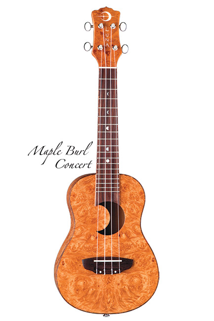 Luna Guitars Uke Concert maple burl crescent sd hole 《コンサートウクレレ》【送料無料】