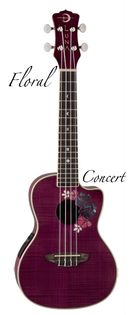 Luna Guitars UKE FLORAL コンサート【送料無料】(入荷しました!)