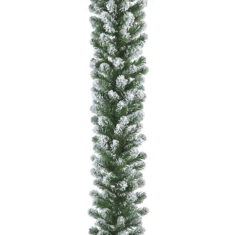 270cmスノーパインガーランド L ×210 フロック 造花 装飾 デコレーション クリスマス Xmas[A-B]