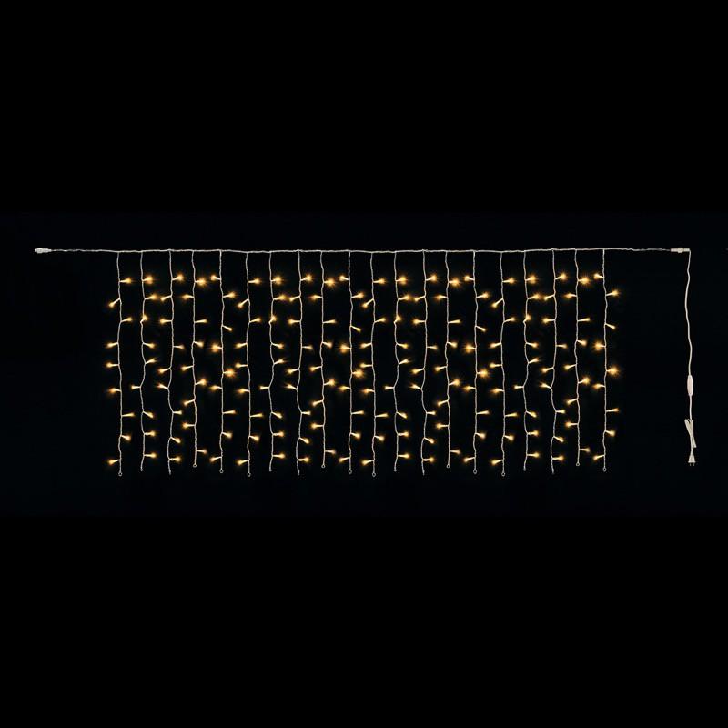 クリスマス 電飾 180球LEDアイシクルライト 電球色/クリアコード(常点灯-コントローラー接続可) 装飾 デコレーション[A-B]