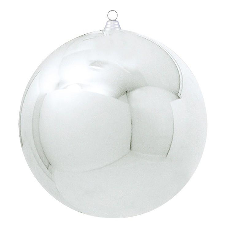 400mmメタリックボール シルバー(1ケ/パック) 装飾 デコレーション クリスマス Xmas[A-B]